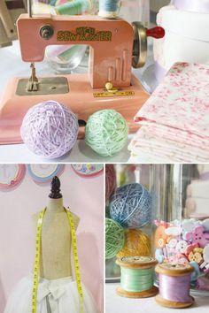 vintage sewing party {HWTM}