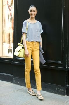 want: mustard pants