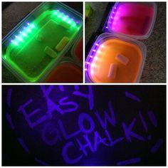 Glow chalk