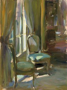 art inspir, interior painting, beach paintings, chairs in art, galleri