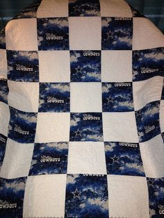 The Dallas Cowboys Quilt  39 X 39 by WrappingYouInWarmth on Etsy, $61.00