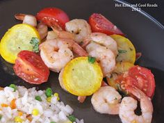 Hot Eats and Cool Reads: Shrimp with Summer Squash and Tomatoes Recipe