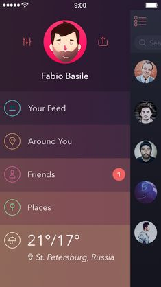 UI for Upcoming GEO Project [Side Bar and Weather Stuff] by Alexander Zaytsev