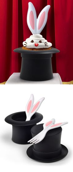 Magic Neat Eats Cake Mold & Serving Fork. Cute for a magician birthday party