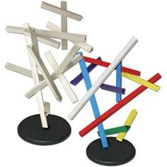 Art Project:  Make rods out of bristol paper and then assemble them to make an abstract sculpture.