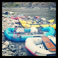 rafts on Hell's Canyon