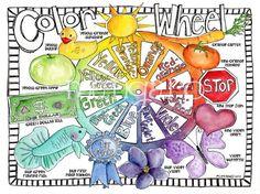 20 x 30 inch Color Wheel art poster for children by marleyungaro, $35.00