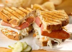 Johnsonville Grilled Reuben Sandwich with Polish Kielbasa