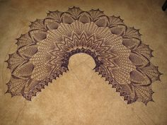 Pineapple crochet makes a statement in weavrmom's Gothic Lace Shawl