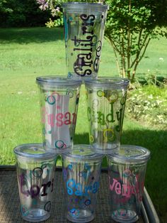 Set of 6 Girls Weekend Personalized Cups/Tumblers