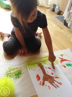 Hand Print Trees : Fall Art, Kids Craft