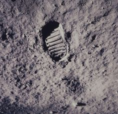 Footprint left on the moon by Apollo 11 astronaut, 1969. (NASA/Time & Life Pictures/Getty Images)