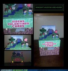 holiday, valentin card, valentine box, idea, minecraft valentin, valentin box, boxes, valentine cards, card holders