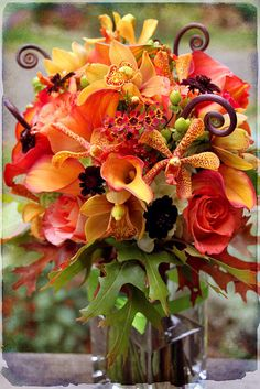 fall floral, fall flowers, orang, fall table, centerpiec, fall bouquets, color, floral arrangements, arrangement floral