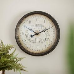 Redeemed - Beautiful in Its Time - Wall Clock $29.99