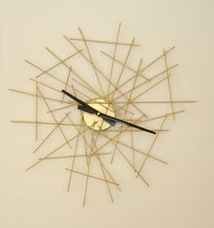 inspirtation for a clock or even just a weird art-type thing for the wall