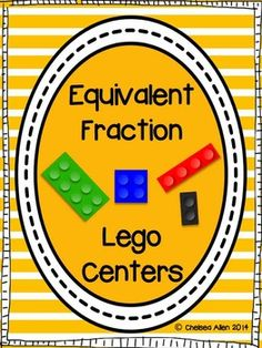 Equivalent Fractions Lego Centers