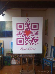QRcode in oilpaint best #QR #Code #Ideas repinned by #tatieja