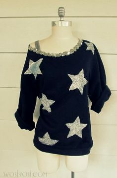iLoveToCreate Blog: You're a Star, Sweatshirt DIY