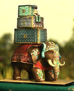 torta de bodas para un casamiento hindú