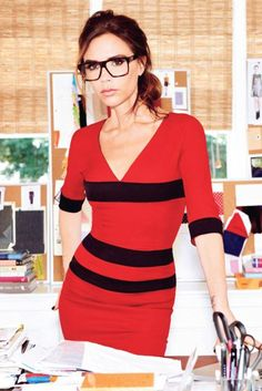 icon, afternoon snacks, kale chips, dress, snack recipes, victoria beckham, glass, geek chic, eye
