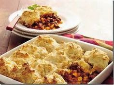 When the Dinner Bell Rings: Taco Beef Bake With Cheddar Biscuit Topping