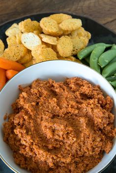 Spicy Roasted Red Pepper Dip