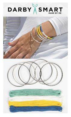 These bangles are splendid! Make your own set with this DIY kit!...Darbysmart.com