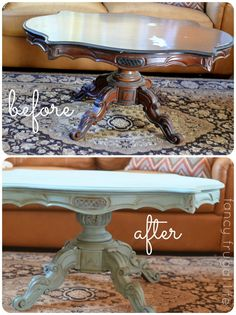 Coffee table makeover before & after