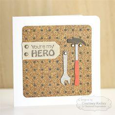 You're My Hero - Scrapbook.com- a fun idea for a handmade Father's Day card