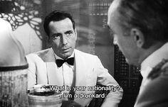 film quot, casablanca, humphrey bogart quotes, funni, movi quot, drunkard, 1940s parti, nation, hollywood style