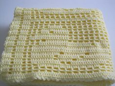 Quack!  Quack!  Baby Ducks Filet Crochet Lightweight Baby by AfghansForBabies, $55.00
