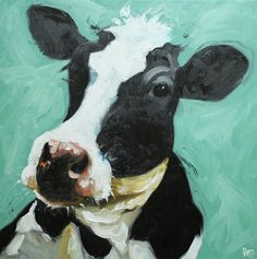 . kitchens, oil paintings, cow art, christmas presents, pretti art, colors, print cow, inch print, cow 350