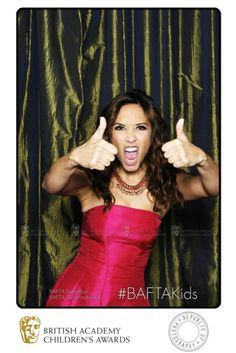 Myleene Klass gives the BAFTA Children's Awards a double thumbs up