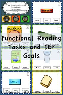 Functional Reading Tasks and IEP Goals by Autism Classroom News: http://www.autismclassroomnews.com