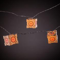ThinkGeek :: Portal Companion Cube String Lights