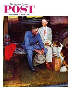 """Breaking Home Ties"" Saturday Evening Post Cover, September 25,1954 Giclee Print by Norman Rockwell at Art.com"
