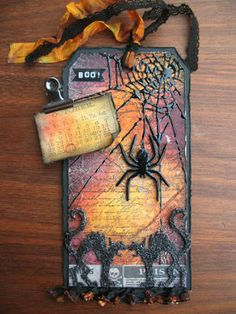 Love this Halloween tag! Gorgeous color combo!