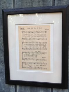 It Is Well With My Soul Hymn Sheet Music Vintage-Look Vertical Wall Art Home Decor on Etsy, $10.00