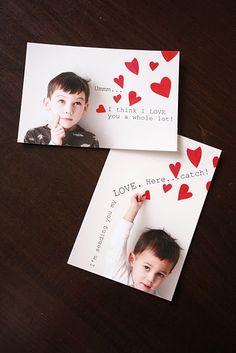 cute idea for a family valentine card!