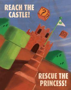 Super Mario Bros Propaganda Poster. $8.50, via Etsy.