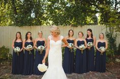 Kristin and Brant // navy bridesmaid dresses // Spindle Photography