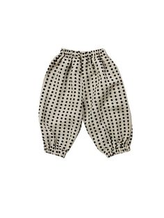 kids | mini balloon pants | natural dot