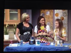 My girl did a good job showing ideas for better beverages for families when she joined me in the second half of this segment and I also share a sparkling and low cal cocktail recipe for the Moms, too. Check this out...
