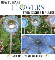 How to make flowers from dishes and plates