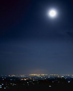 semarang - Indonesia,night scene with fullmoon