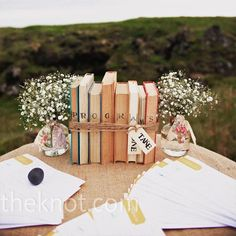 more books and babys breath
