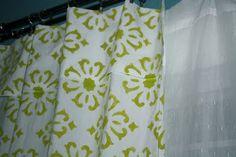 Stenciling curtains #stencil #curtains