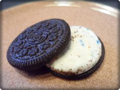 Birthday Cake flavored oreos. They were SOOOOO good. He and the girls stacked 30 of them up on a plate. :)