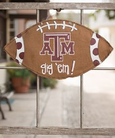 Take a look at this Texas A&M Football Burlap Wall Hanging on zulily today!
